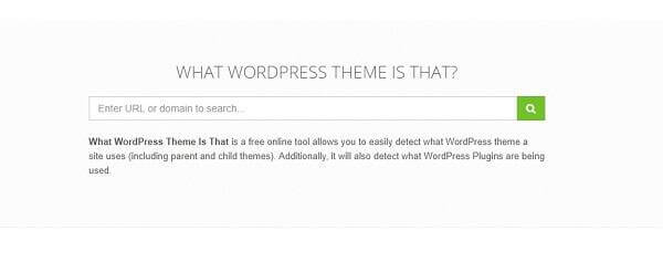 how to detect wp theme whatthemeisthat