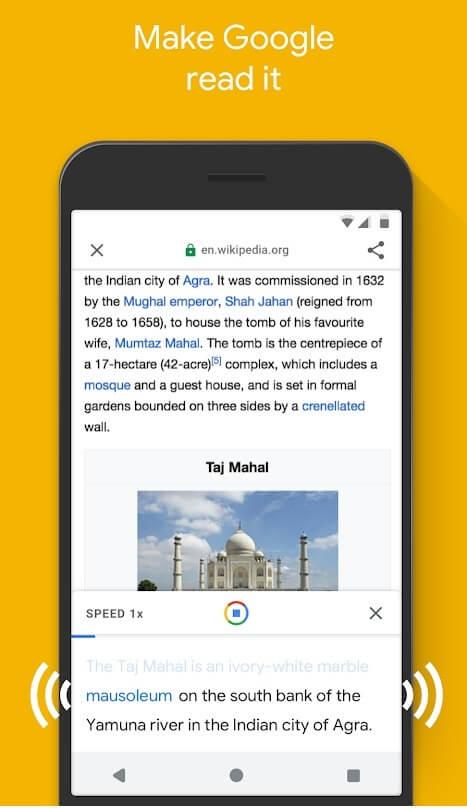 google go screen reader